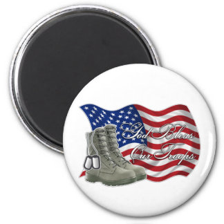 God bless our Troops Magnet