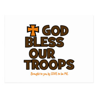 GOD BLESS OUR TROOPS POST CARD