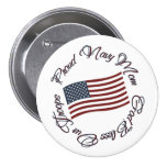 God Bless Our Troops, Proud Navy Mom Pinback Buttons