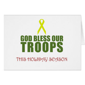 God Bless Our Troops This Holiday Season Cards