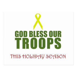 God Bless Our Troops This Holiday Season Post Cards