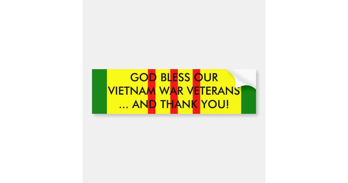 GOD BLESS OUR VIETNAM WAR VETERANS... BUMPER STICKER ...