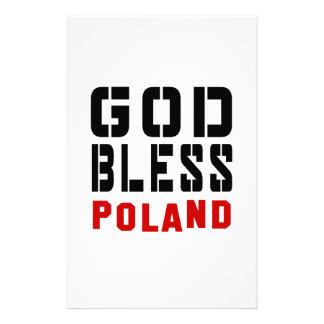 God Bless Poland Stationery
