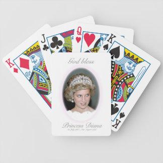 God Bless Princess Diana Bicycle Playing Cards