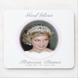 God Bless Princess Diana Mousepad