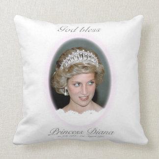 God Bless Princess Diana Throw Pillow