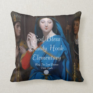 GOD BLESS SANDY HOOK ELEMENTARY MAY THE LORD .... THROW PILLOW