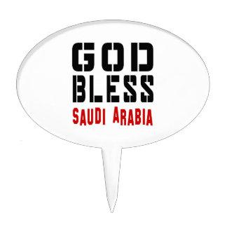 God Bless Saudi Arabia Cake Toppers