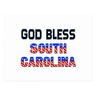 God Bless South Carolina Postcard