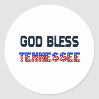 God Bless Tennessee Classic Round Sticker