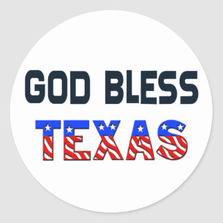 God Bless Texas Classic Round Sticker
