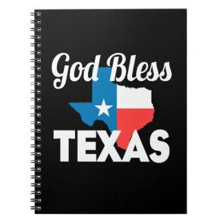 God Bless Texas Notebook