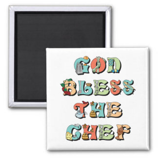 God Bless the Chef Magnet