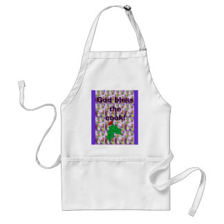 God bless the cook adult apron