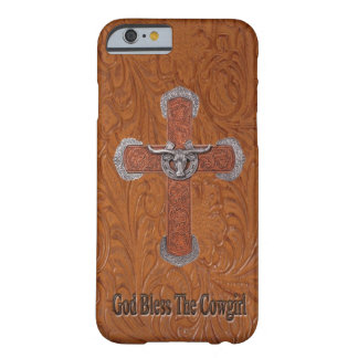 God Bless The Cowgirl Leather iPhone 6 case