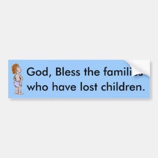 God Bless the Families Bumpersticker Bumper Sticker
