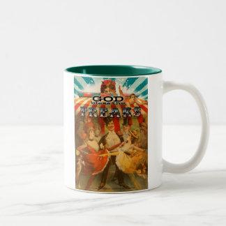 God Bless the Freaks 2 Two-Tone Coffee Mug