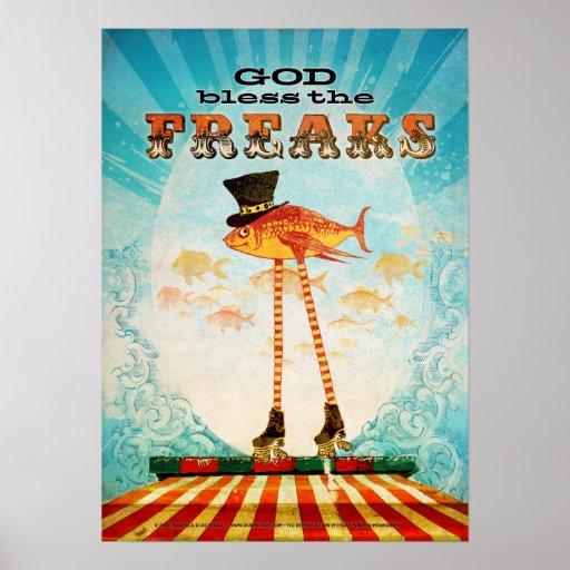 God Bless the Freaks Poster
