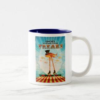 God Bless the Freaks Two-Tone Coffee Mug