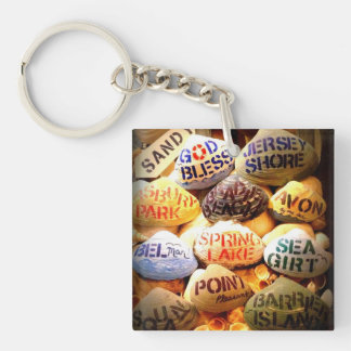 God Bless the Jersey Shore - Key Chain Square Acrylic Keychains