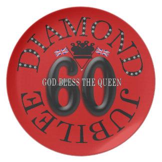 God Bless the Queen Diamond Jubilee Plate