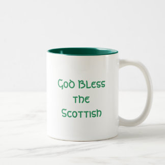 God Bless the Scottish Two-Tone Coffee Mug