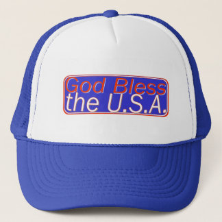 GOD BLESS THE U.S.A. TRUCKER HAT