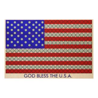 God Bless The U.S.A. Wood Wall Decor