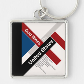 God Bless The United States Keychain