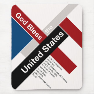 God Bless The United States Mouse Pad