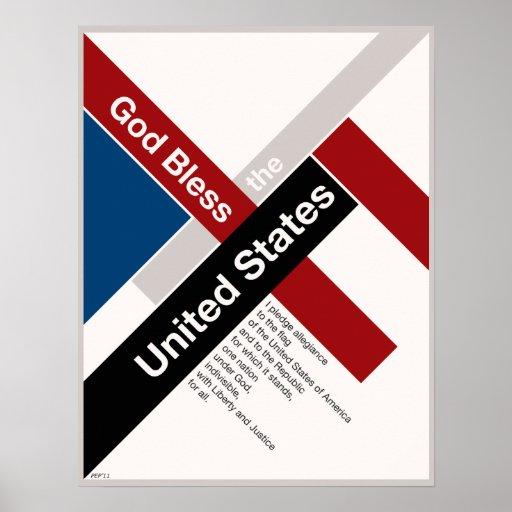 God Bless The United States Poster