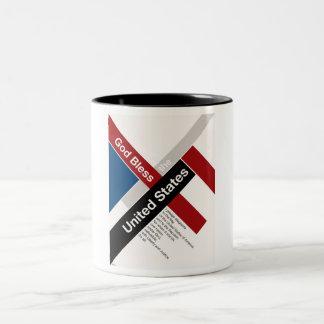 God Bless The United States Two-Tone Coffee Mug