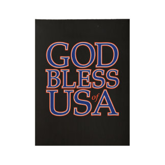 God Bless the US of A Wood Wall Art