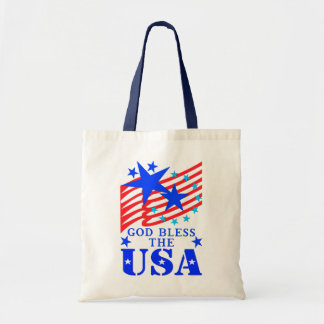God Bless The USA Canvas Bags