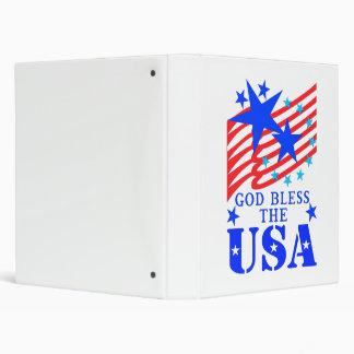 """God Bless The USA Binder"