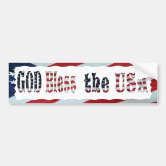 GOD BLESS THE USA-BUMPER STICKER