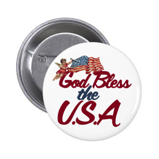 God bless the USA Pin