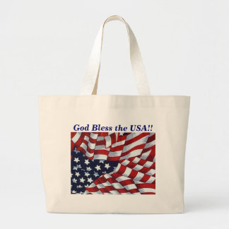 GOD BLESS the USA by SHARON SHARPE Large Tote Bag
