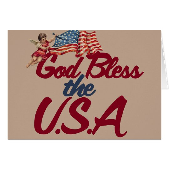 God bless the USA Card