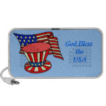 God Bless the USA design on Doodle speaker