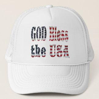 GOD BLESS THE USA-HAT TRUCKER HAT
