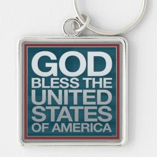 God Bless The USA Keychain