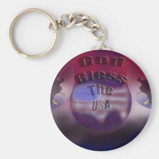 God Bless the USA Key Chain