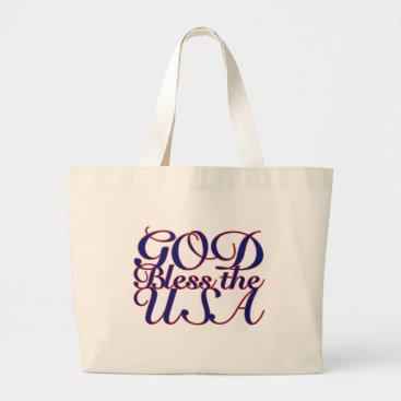 God Bless the USA Large Tote Bag