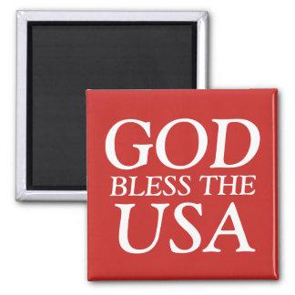 God Bless the USA Magnet
