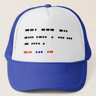 God Bless The USA Morse Code Hat