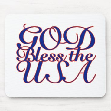 God Bless the USA Mouse Pad