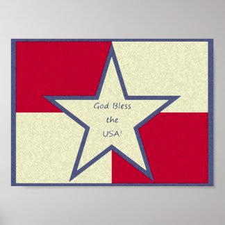 """God Bless the USA"" Poster"