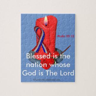 God Bless the USA Ribbon Puzzle