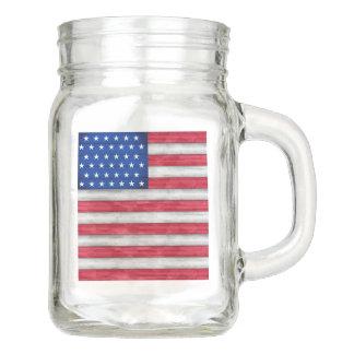 God Bless the USA - See Back Also Mason Jar